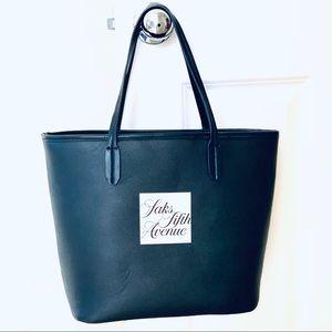 Sak's Fifth Avenue Black Tote Bag/Purse